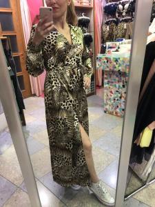 Abito Lungo Leopardato con spacco