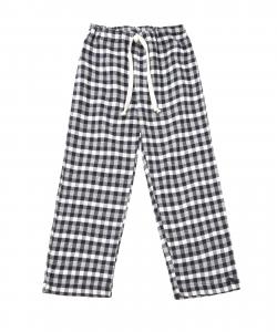 Pantalone a quadri blu e bianchi