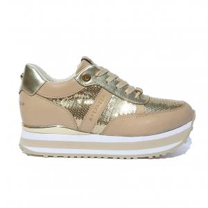 Sneaker bianca o oro con paillettes Apepazza