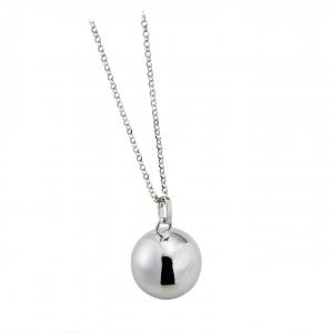Collana chiama angeli in argento sterling 925 rodiato senza nichel con catena con ciondolo ciondolo diametro 180 mm cm.80