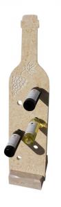 Offerta portabottiglie in marmo giallo egiziano sagomato a forma di bottiglia
