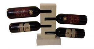 Offerta portabottiglie in marmo dalla capienza di quattro bottiglie