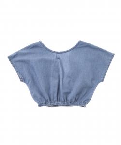 Camicia di jeans a maniche corte