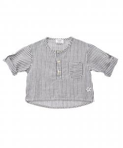 T-Shirt a righe blu e bianche