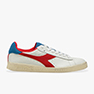 SNEAKERS DIADORA GAME L LOW USED 501.174764 01 C0680 WHITE/DARK RED