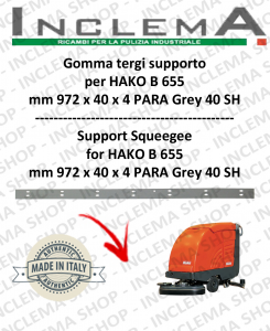 B 655 Squeegee Rubber supporto for Scrubber Dryer  HAKO