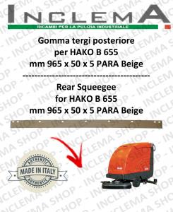 B 655 goma de secado trasero para fregadora  HAKO