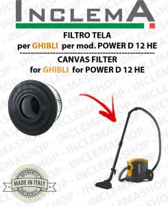 POWER D 12 HE  FILTRO CARTUCCIA HEPA PER aspirapolvere GHIBLI