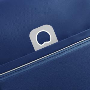 Delsey - Brochant - Valigia trolley da cabina Ryanair 2 ruote morbido slim 55 cm blu cod. 2255723