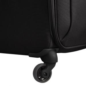 Delsey - Brochant - Valigia trolley da cabina Ryanair 4 ruote morbido 55 cm nero cod. 2255803