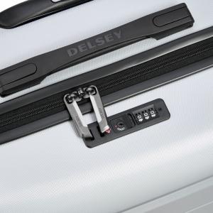 Delsey - Comete - Valigia trolley medio 4 doppie ruote ABS slim 67 cm grigio argento cod. 3039810