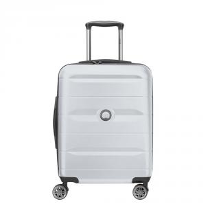 Delsey - Comete - Valigia trolley da cabina Ryanair 4 doppie ruote ABS slim 55 cm grigio argento cod. 3039803