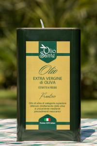 Olio EVO Frantoio 3L 2019/20 - Olio extravergine di oliva Pugliese cultivar Frantoio Sante Latta da 3 Litri - Terre di Ostuni