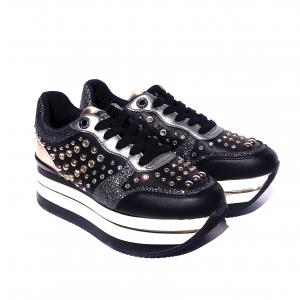 Sneaker con para alta bianca o nera Guess