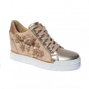 Sneaker alta rose con fiori Guess