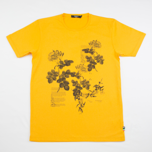 T-shirt in cotone gialla Creative 07 Milano
