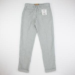 Pantalone a righe cotone e lino WhiteSand