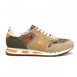 Sneaker militare/arancione Blauer