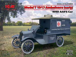 Model T 1917 Ambulance (early), WWI AAFS Car