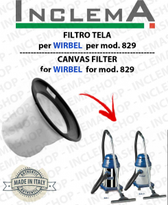 829 Canvas Filter WIRBEL  for vacuum cleaner
