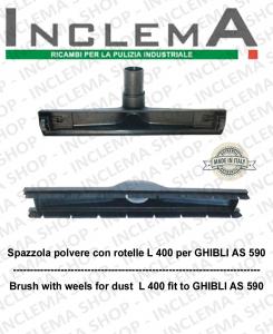 Spazzola polvere con rotelle adatta per AS 590 GHIBLI kit ø 40  Cod: SYN5102004 + SYN5102100
