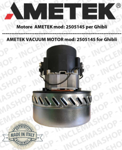2505145 Ametek Vacuum Motor for Wet & Dry vacuum cleaner for GHIBLI