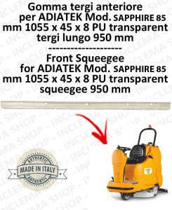 SAPPHIRE 85 GOMMA TERGI ANTERIORE per lavapavimenti ADIATEK (tergi da 950 mm)