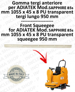 SAPPHIRE 85s Vorne Sauglippen für Scheuersaugmaschinen ADIATEK (tergi da 950 mm)