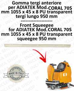 SAPPHIRE 65 goma de secado delantera para fregadora ADIATEK (tergi da 950 mm)-2