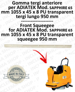 SAPPHIRE 65 goma de secado delantera para fregadora ADIATEK (tergi da 950 mm)