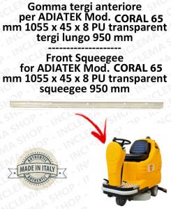 CORAL 65 goma de secado delantera para fregadora ADIATEK (tergi da 950 mm)