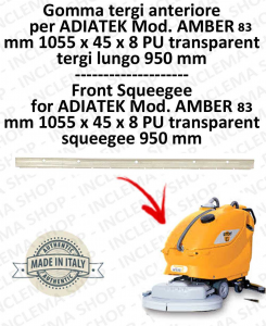 AMBER 83 Vorne Sauglippen für Scheuersaugmaschinen ADIATEK (tergi da 950 mm)
