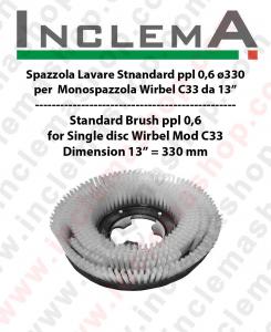 Standard Bürsten PPL 0,6 für Einscheibenmaschinen WIRBEL C33 - dim ø 13