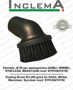 Round Brush  Ø 50 for vacuum cleaner GHIBLI, WIRBEL, SYNCLEAN, MAXICLEAN mod: SYN104210150