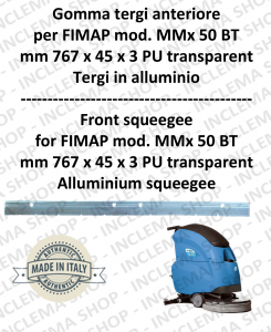Front squeegee rubber for Scrubber Dryer FIMAP MMx 50