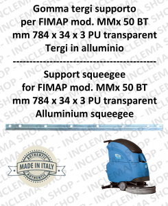 Gomma tergipavimento supporto for Scrubber Dryer FIMAP MMx 50
