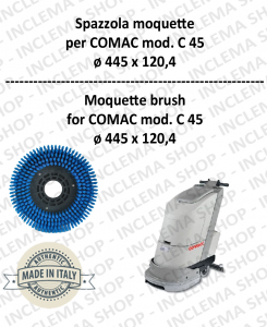 C 45 Moquette brushe  in PPL 0,30 Dimension ø 445 X 120,4 3 pioli for Scrubber Dryer COMAC