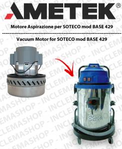 BASE 429 motor de aspiración AMETEK para aspiradora SOTECO