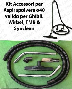 KIT Accesorios para aspiradora ø40 válido para GHIBLI, WIRBEL, SYNCLEAN, TMB