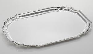Vassoio rettangolare stile settecento sheffield cm.42x34