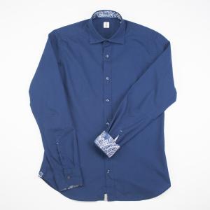 Camicia blu notte impreziosita nei dettagli, in cotone Tar Milano