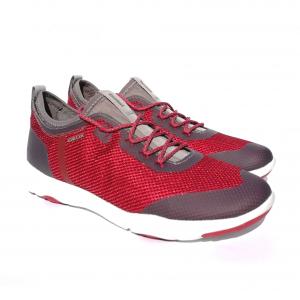 Sneaker rosso/grigia Geox