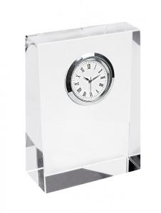 Orologio in vetro da scrivania cm.7,5x3x10h