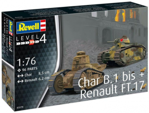 Char. B.1 bis & Renault FT.17