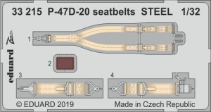 P-47D-20 seatbelts STEEL (TRUMP)