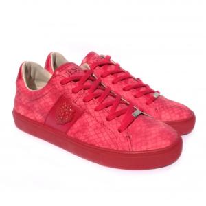 Sneaker rossa pitonata Guess