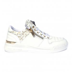 Sneaker bianca/oro Guess