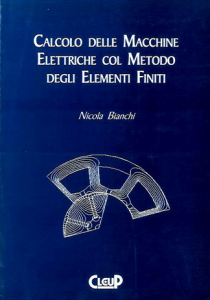 Calcolo delle macchine elettriche col metodo degli elementi finiti