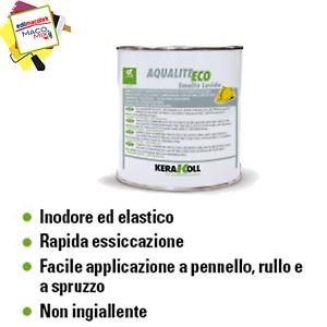 Kerakoll Aqualite eco smalto lucido 0,75ml base acqua per ferro legno intonaci