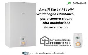 Amalfi Eco 14 RS i HM  Scaldabagno istantaneo a gas a camera stagna Alta modulazione Basse emissioni